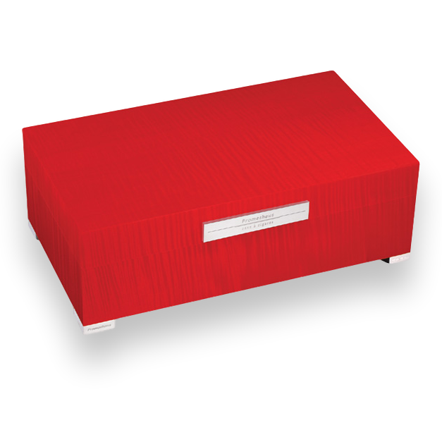 Northwoods Humidors Prometheus Red Sycamore 75 Cigar Humidor Platinum Series