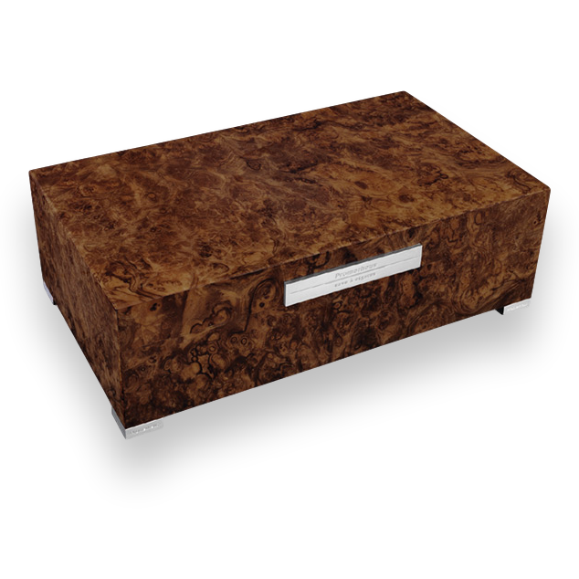 Northwoods Humidors Prometheus Walnut Burl 75 Cigar Humidor Platinum Series