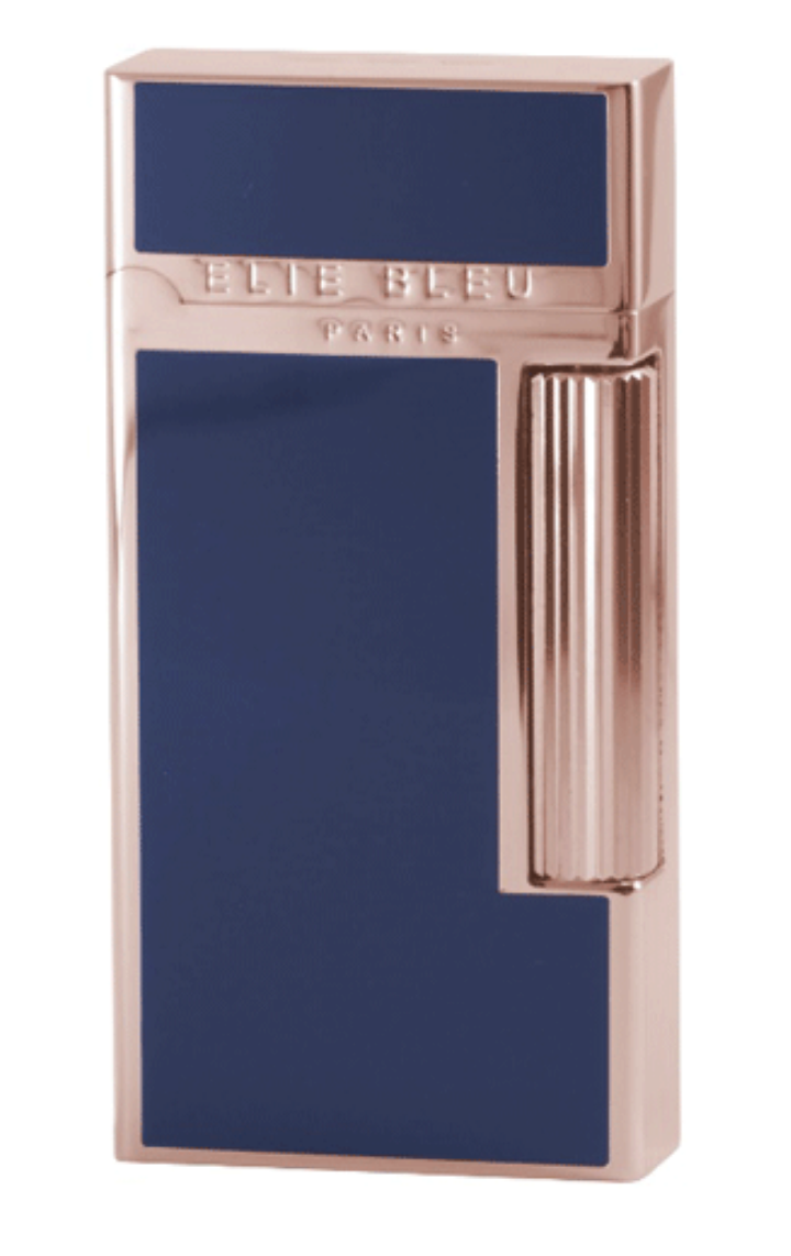 POCKET LIGHTER WIDE ROSE GOLD BLUE JAPANESE LACQUER